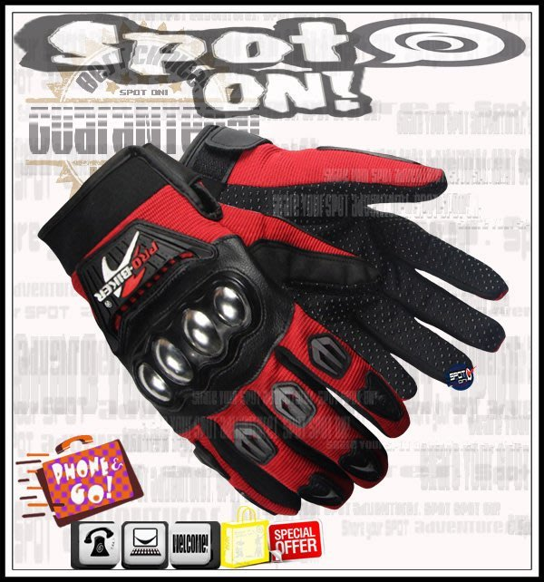 Spot ON - PRO BIKER 高階款 MCS29 摩托車手套! ON SALE ! 公路賽 CB-1 鍛造碗公
