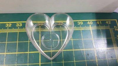 蠟材館~蠟燭材料專賣:心形蠟燭座 強化耐熱塑膠 透明殼 可重覆使用
