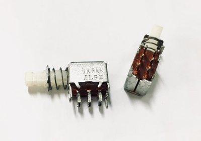 『正典UCHI電子』ALPS 6P按鍵開關 有段 日製 總長25mm