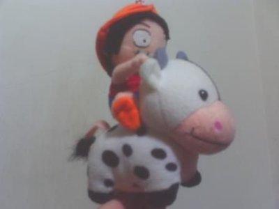 全新魯夫騎乳牛玩偶