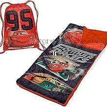 哈美族 美國 迪士尼 Cars 車子總動員 小男童 背袋+睡袋2件組 幼稚園必備 適2-4歲