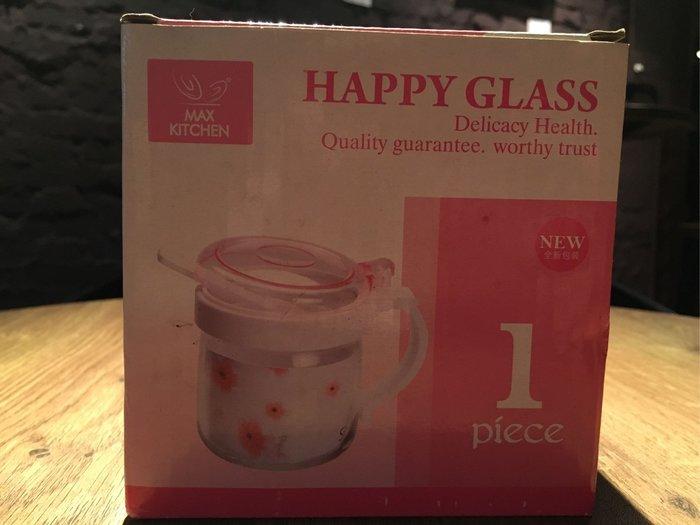 全新未用 M.K 粉紅儲物罐 HAPPY CAN 玻璃罐 調味罐 300ml MK-SC300P