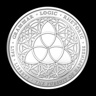美國 紀念幣 2012 1oz  Trivium銀幣 原廠