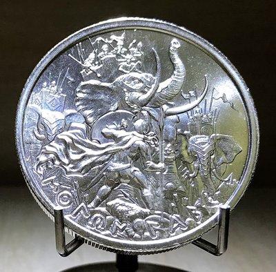 «自由銀»Molon Labe 高浮雕款-穆隆·拉貝銀幣 (2 toz=62.2g)