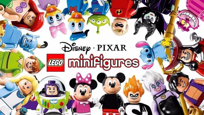 送原廠藍盒【LEGO 樂高】Minifigures人偶系列: 迪士尼Disney 人偶包抽抽樂 全套共18個 71012