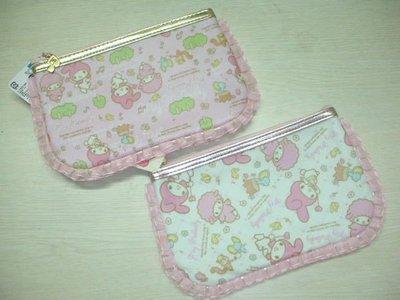 *凱西小舖*日本進口三麗歐正版MELODY美樂蒂森林動物系列扁式收納/筆袋*2選1