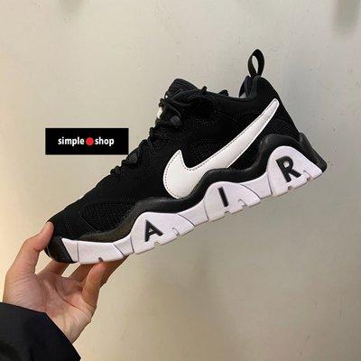 【Simple Shop】Nike Air Barrage Low 復古 大勾 籃球鞋 黑白 男女 CD7510-001
