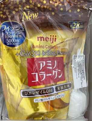 9/17前 特價 代購 日本 Meiji 明治 明治膠原蛋白粉璀璨金28日份袋裝196g 到期日2022/11 是否附湯匙依據取貨而定