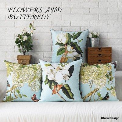 歐美風 氣質花 抱枕 Uluru Design  客廳 臥室 工業風 鄉村風 居家裝飾 飾品