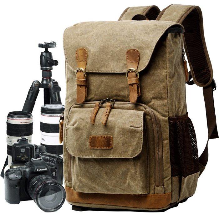 奇奇店-相機雙肩攝影包 帆布筆記本雙肩包相機內膽佳能單反數碼內膽背包