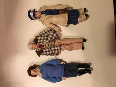 1:12 6 male figures with clothes 全6個人偶