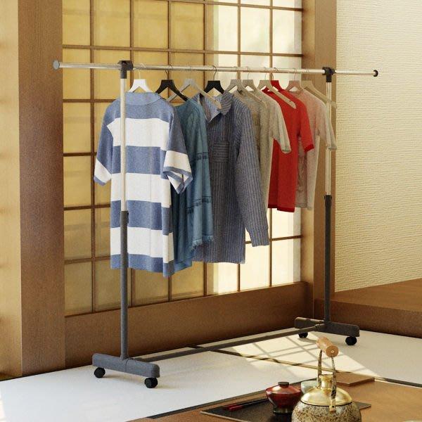 「客尊屋」台灣製造,「超寬」日式簡約風單桿伸縮衣架,曬衣架,衣櫥,吊衣架,單桿衣架,電腦桌