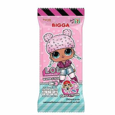 泰國 LOL 驚喜娃娃 草莓捲心酥+立體貼紙