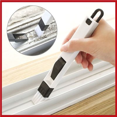 (特價出清)二合一窗槽縫隙刷清潔刷 帶簸箕(2組入-顏色隨機)【AE02659-2】99愛買