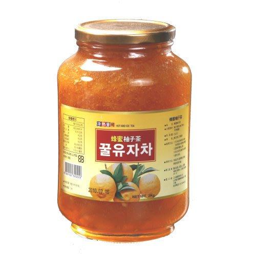 高麗購◎正友韓國蜂蜜柚子茶2公斤營業用(二)◎每瓶450/
