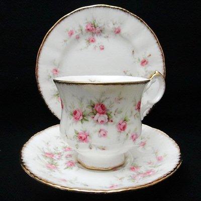 【timekeeper】 英國製Paragon派拉岡Victoriana Rose維多利亞玫瑰系列三件式咖啡杯+(免運)