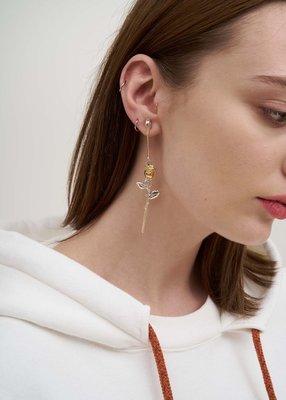 AMBUSH 金色玫瑰 吊墜 單邊 耳環