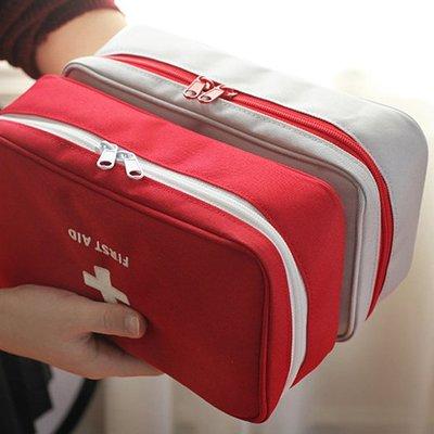 BO雜貨【SV6471】韓國時尚旅行便攜手提醫藥包 急救包 藥包 藥品整理收納包 雜物收納包 大號