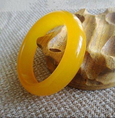 [古韻之家]玉緣珠寶天然玉手鐲 正品A級黃龍玉鐲子 冰透雞油黃