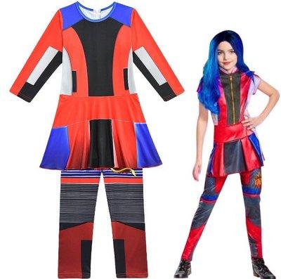 萬聖節變裝秀化裝舞會兒童表演服裝Descendants星光繼承者女童cosplay派對裝扮 (068)