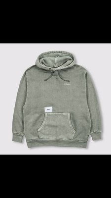 WTAPS 19AW COLLEGE. DESIGN HOODED 03 OLIVE DRAB L 水洗 全新正品
