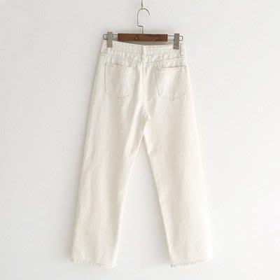 牛仔 褲 直筒 長褲-簡約純色休閒百搭女褲子73tq30[獨家進口][米蘭精品]