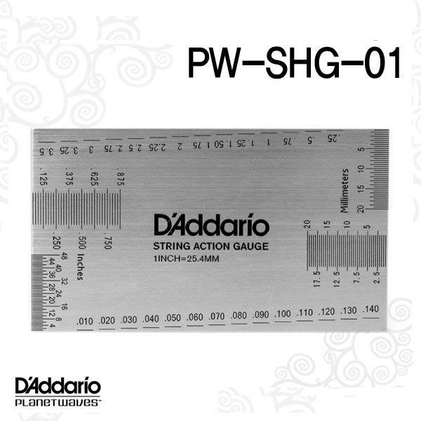 ☆唐尼樂器︵☆ Planet Waves PW-SHG-01 弦距 測量尺規 測量卡 調整弦距 專用 吉他 電吉他 貝斯