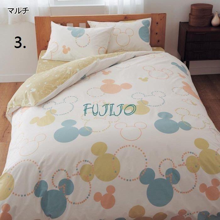 ~FUJIJO~日本存貨款~日本迪士尼DISNEY 【Mickey米奇】臉譜系列雙面圖案100%純綿單人3件式床包組4色