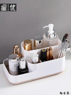 化妝包 化妝袋 化妝盒 化妝品收納盒塑料桌面客廳茶幾遙控器雜物文具整理盒加厚小號