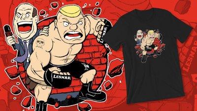 [美國瘋潮]正版WWE Brock Lesnar &Paul Heyman The Beast Advocate Tee