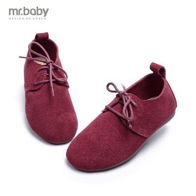 【格倫雅】^秋 磨砂皮女童單鞋 兒童皮鞋 系帶休閑童鞋1001[g-l-y49