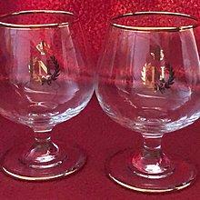 """拿破崙拔蘭地杯一對,Napoleon Brandy Glass x 2, 3 1/2"""" high, New"""