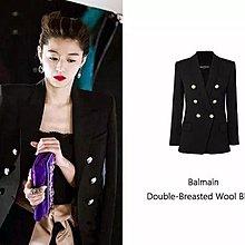 原價35萬 BALMAIN 秀款米白雙排B金釦西裝 90%Wool+10%Cashmere。