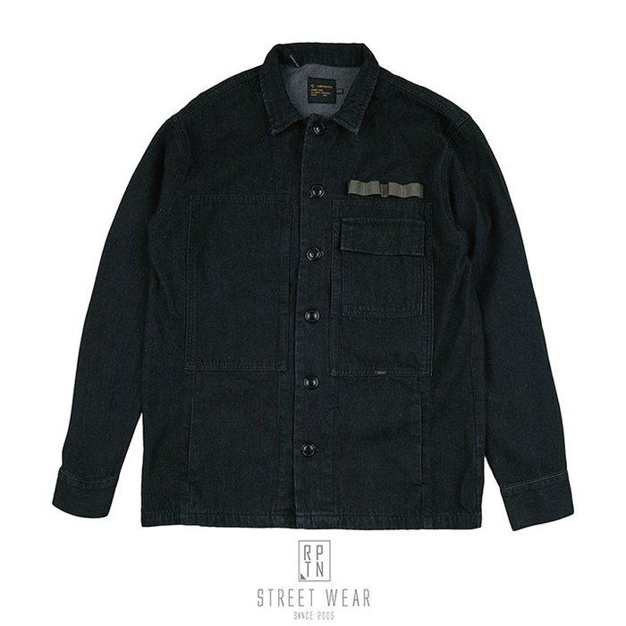 REPUTATION BLACK DENIM / D - SHIRT.FW - 黑牛仔軍式襯衫