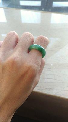 A貨老坑綠飄陽綠戒指