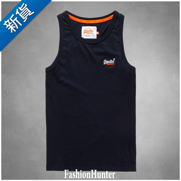 新貨【FH.cc】極度乾燥 Superdry 素面背心 Vest Top 刺繡Logo 海軍藍