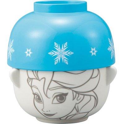 ♡fens house♡日本進口 Frozen 冰雪奇緣 艾紗 elsa 造型 碗 飯碗 茶碗 陶瓷碗 蓋~兩個碗一組