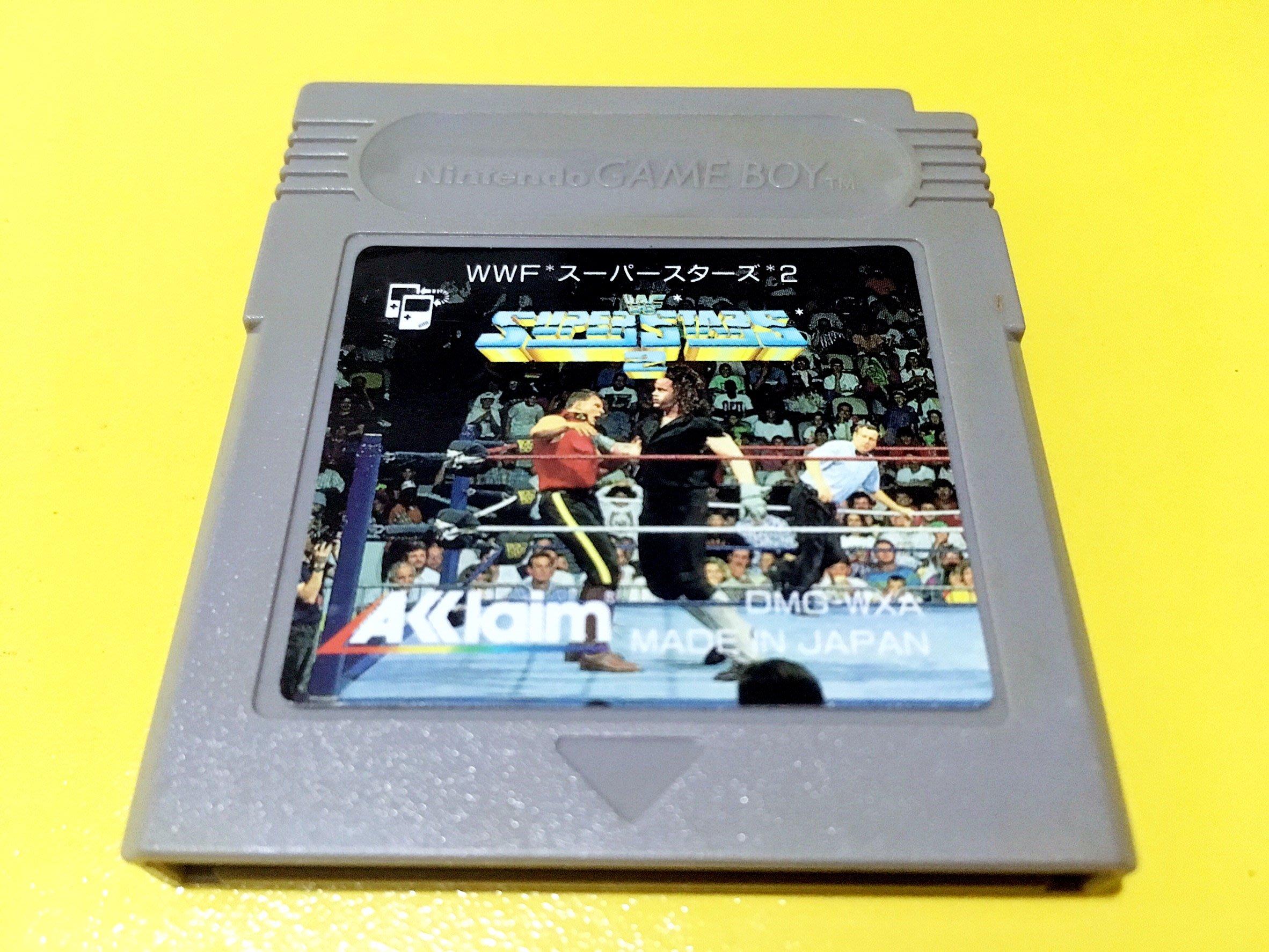 幸運小兔 GB遊戲 GB WWF 超級明星摔角 2 WWF Super Stars GameBoy GBA 適用 D6
