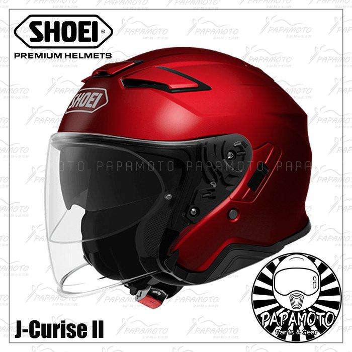 【趴趴騎士】SHOEI J-Cruise 2 - 紅 3/4 安全帽 (內墨片 JCruise2