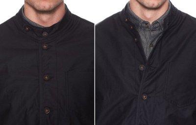 LIFETIME COLLECTIVE 加拿大時裝 上膠黑 復古中山裝 短板立領外套 夾克 條紋毛料內襯 全新正品現貨S