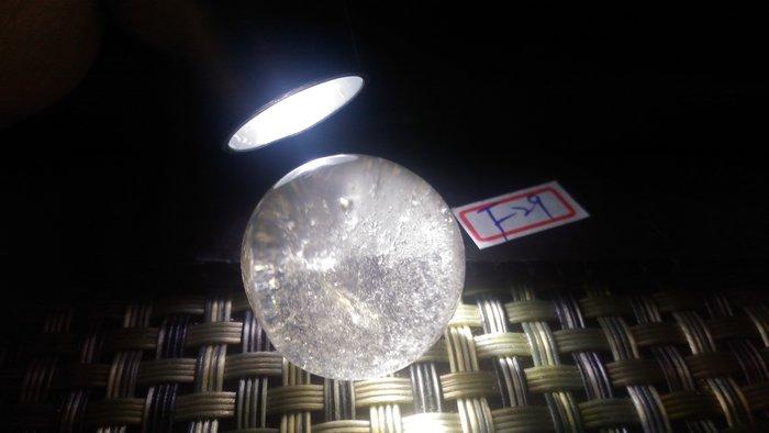 幽靈髮晶水晶球~無座~f29~有坑洞