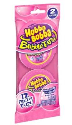 美國HUBBA BUBBA BUBBLE TAPE泡泡糖膠帶浮誇口香糖 原味粉紅2捲199含運 畢業禮物 美國糖果