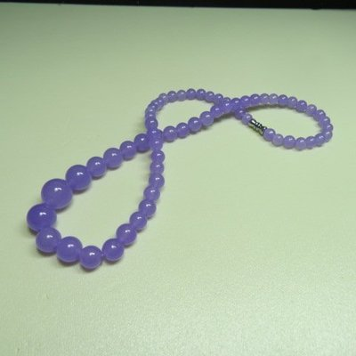 【競礦網】高檔天然漂亮紫玉髓褡珠項鍊(親民價、便宜賣、限量10組)原價300元