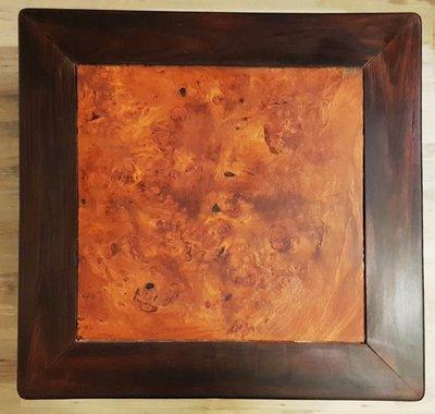 鳳崗文創---{傢俱20}---紫檀桌--內嵌獨板花梨樹瘤