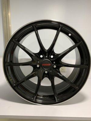 CR輪業 全新 RAVS 19吋鋁圈 5/112 亮黑 消光灰 完工價:7000 類 RAYS G25