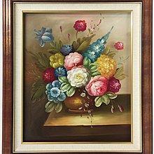☆【御品畫廊】☆全手繪花卉太陽花牡丹富貴花開77X67公分含框每幅2300元