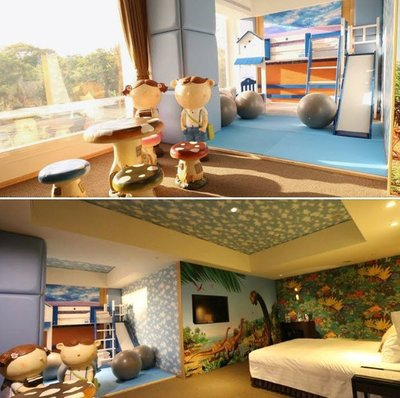 @瑞寶旅遊@台中清新溫泉【夜景房 一大床或二中床$3188】還有一泊二食專案『限量恐龍親子房優惠中』