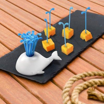 美國Fred & Friends鯨魚造型叉子收納座(Moby Pick - Party Picks)