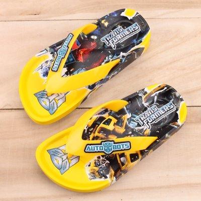 Ovan 男童 變形金剛 大黃蜂經典配色 人字夾腳拖鞋 MIT製造 黃色