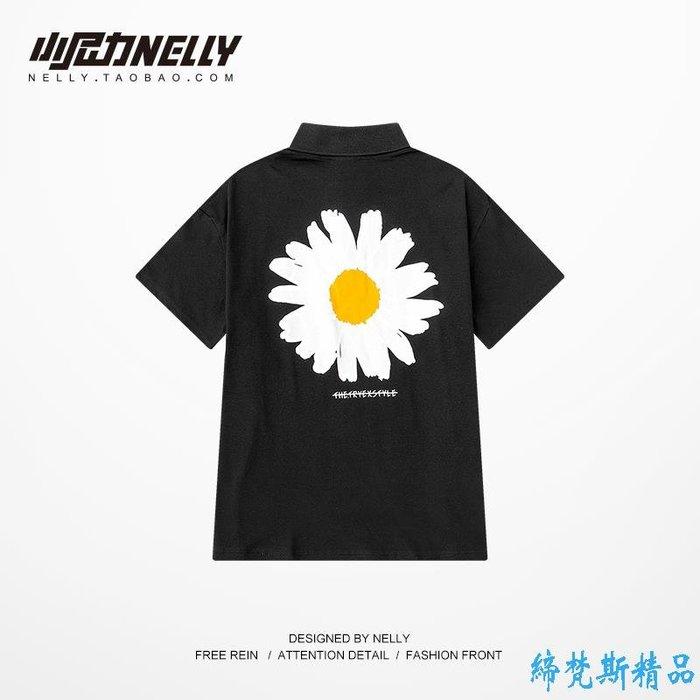 春夏季新款男士短袖T恤時尚翻領POLO衫潮流男裝上衣日系風